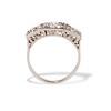 1.70ctw Old European Cut Diamond Art Deco 3-Stone Ring, GIA F 2
