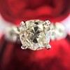 1.71ct Old Mine Cut Diamond Solitaire GIA K SI2 7