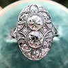 1.75ctw Edwardian Toi et Moi Old European Cut Diamond Ring  6