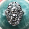1.75ctw Edwardian Toi et Moi Old European Cut Diamond Ring  18