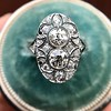 1.75ctw Edwardian Toi et Moi Old European Cut Diamond Ring  19