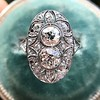 1.75ctw Edwardian Toi et Moi Old European Cut Diamond Ring  8