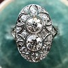 1.75ctw Edwardian Toi et Moi Old European Cut Diamond Ring  20