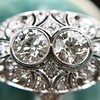 1.75ctw Edwardian Toi et Moi Old European Cut Diamond Ring  14