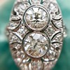 1.75ctw Edwardian Toi et Moi Old European Cut Diamond Ring  7