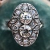 1.75ctw Edwardian Toi et Moi Old European Cut Diamond Ring  9