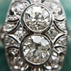 1.75ctw Edwardian Toi et Moi Old European Cut Diamond Ring  13