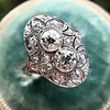 1.75ctw Edwardian Toi et Moi Old European Cut Diamond Ring  23