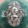1.75ctw Edwardian Toi et Moi Old European Cut Diamond Ring  4