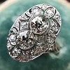 1.75ctw Edwardian Toi et Moi Old European Cut Diamond Ring  21