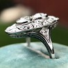1.75ctw Edwardian Toi et Moi Old European Cut Diamond Ring  10