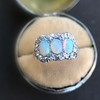 1.80ctw Victorian Opal and Diamond Trilogy Ring  12