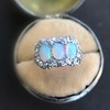 1.80ctw Victorian Opal and Diamond Trilogy Ring  11