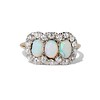 1.80ctw Victorian Opal and Diamond Trilogy Ring  0