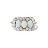 1.80ctw Victorian Opal and Diamond Trilogy Ring  6