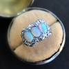 1.80ctw Victorian Opal and Diamond Trilogy Ring  7