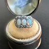 1.80ctw Victorian Opal and Diamond Trilogy Ring  9