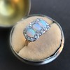 1.80ctw Victorian Opal and Diamond Trilogy Ring  10