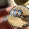 1.80ctw Victorian Opal and Diamond Trilogy Ring  16