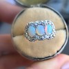 1.80ctw Victorian Opal and Diamond Trilogy Ring  15