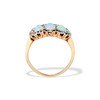 1.80ctw Victorian Opal and Diamond Trilogy Ring  3