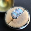 1.80ctw Victorian Opal and Diamond Trilogy Ring  8