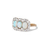 1.80ctw Victorian Opal and Diamond Trilogy Ring  1