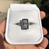 1.80ctw Art Deco French Cut Diamond Twin Stone Ring 21