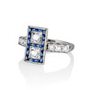 1.80ctw Art Deco French Cut Diamond Twin Stone Ring 1