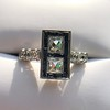 1.80ctw Art Deco French Cut Diamond Twin Stone Ring 4