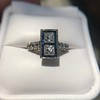 1.80ctw Art Deco French Cut Diamond Twin Stone Ring 29
