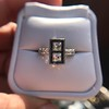 1.80ctw Art Deco French Cut Diamond Twin Stone Ring 11