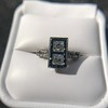 1.80ctw Art Deco French Cut Diamond Twin Stone Ring 34