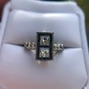 1.80ctw Art Deco French Cut Diamond Twin Stone Ring 30
