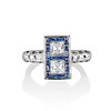1.80ctw Art Deco French Cut Diamond Twin Stone Ring 0