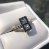 1.80ctw Art Deco French Cut Diamond Twin Stone Ring 24