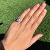1.80ctw Art Deco French Cut Diamond Twin Stone Ring 13