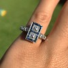 1.80ctw Art Deco French Cut Diamond Twin Stone Ring 17
