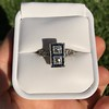 1.80ctw Art Deco French Cut Diamond Twin Stone Ring 19