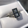 1.80ctw Art Deco French Cut Diamond Twin Stone Ring 23