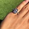 1.80ctw Art Deco French Cut Diamond Twin Stone Ring 15