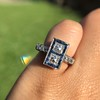 1.80ctw Art Deco French Cut Diamond Twin Stone Ring 6