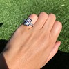 1.80ctw Art Deco French Cut Diamond Twin Stone Ring 14