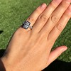 1.80ctw Art Deco French Cut Diamond Twin Stone Ring 12