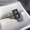 1.80ctw Art Deco French Cut Diamond Twin Stone Ring 22