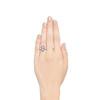 1.80ctw Art Deco French Cut Diamond Twin Stone Ring 3