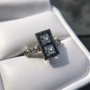 1.80ctw Art Deco French Cut Diamond Twin Stone Ring 25