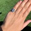1.80ctw Art Deco French Cut Diamond Twin Stone Ring 5