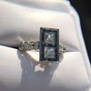 1.80ctw Art Deco French Cut Diamond Twin Stone Ring 33