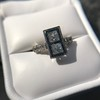 1.80ctw Art Deco French Cut Diamond Twin Stone Ring 32